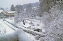 Winter in Sellin - Blick vom Balkon Parkresidenz Concordia
