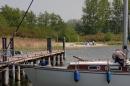 Segelschiff im Naturhafen Gustow