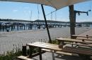 Sitzgelegenheit mit Blick auf den Naturhafen Gustow