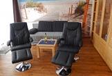 Sitzecke mit ausziehbarer Schlafcouch