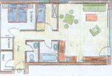 Grundriss der Wohnung Typ 2