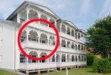 Lage der Ferienwohnung 15 in der Strandresidenz Juliusruh im Haus II