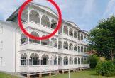 Lage der Ferienwohnung 18 in der Strandresidenz Juliusruh im Haus II