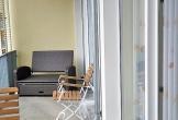 Balkon mit Relaxeliege