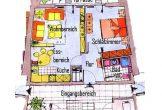 Grundriss einer Wohnung Typ 1 mit Terrasse