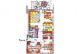 Grundriss einer Wohnung Typ 2 mit Terrasse