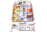 Grundriss der Wohnung Typ 1