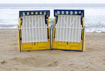 Strandkörbe geschlossen
