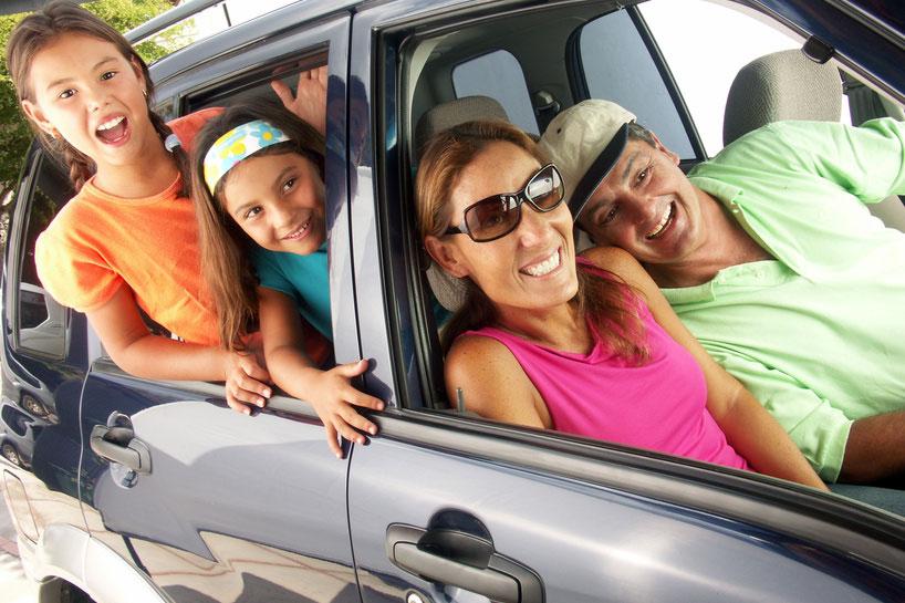 Autoausflug mit der Familie