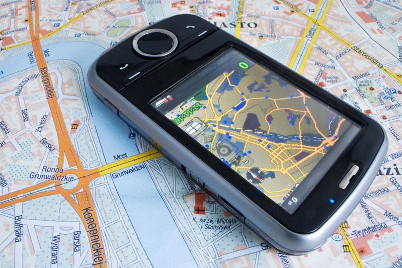 Handy mit GPS-Daten