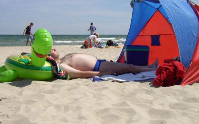 Strand Sonnenanbeter