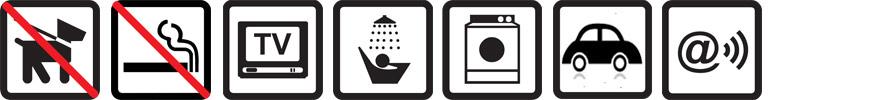 Hunde nicht erlaubt, Nichtraucherwohnung, TV vorhanden, Dusche, Waschmaschine, Parkplatz auf dem Gelände, Funknetz WLan