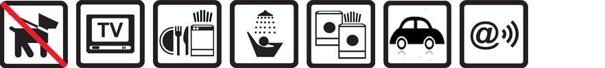 Hunde nicht erlaubt, TV vorhanden, Geschirrspülmaschine, Dusche, Münz-Waschmaschine und -Wäschetrockner, Parkplatz auf dem Gelände, Funknetz WLan