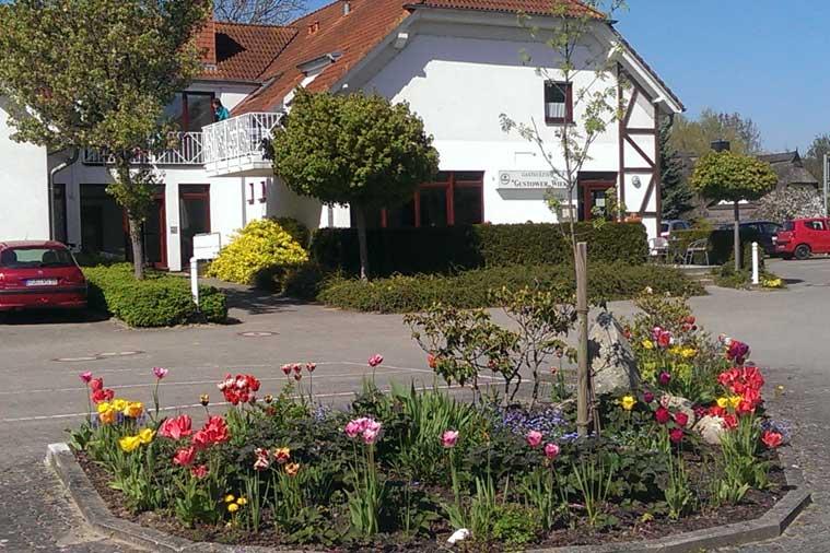 Ferienanlage Gustow Eingang Hauptgebäude West mit Schlüsseltresor