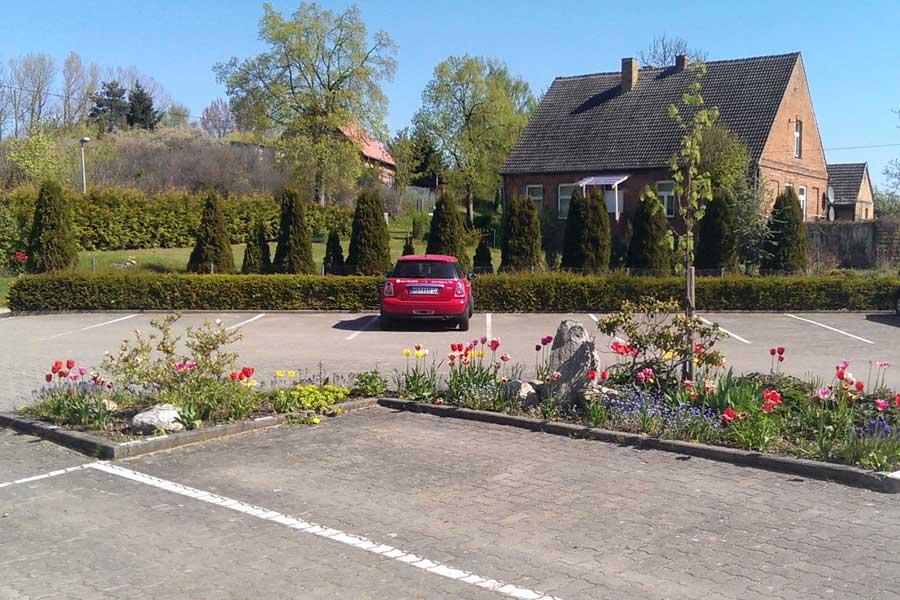 Ferienanlage Gustow Parkplatz