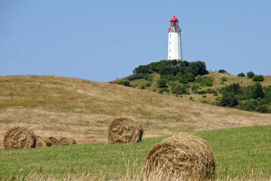 Der Leuchtturm von Dornbusch auf Hiddensee