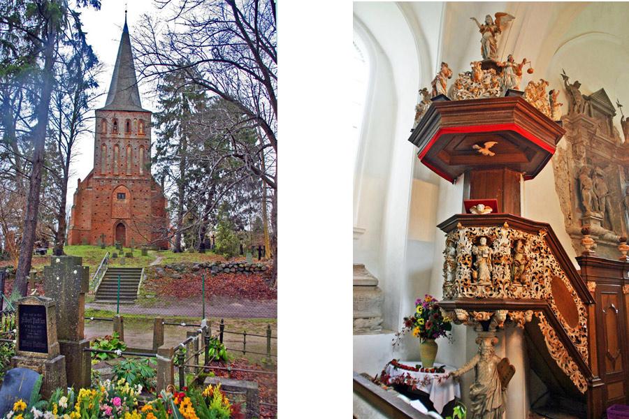 Eingang und Kanzel St. Maria Magdalena Vilmnitz 2005