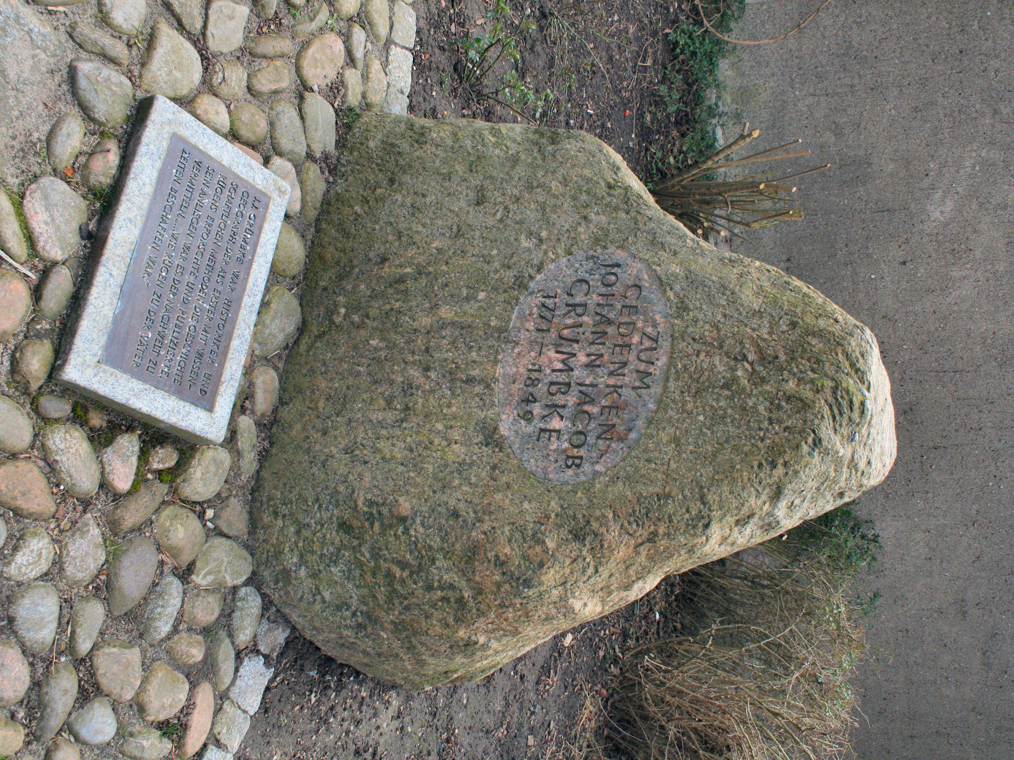 Gedenkstein von Johann Jacob Grümbke - Bild von Wikipedia Lapplaender