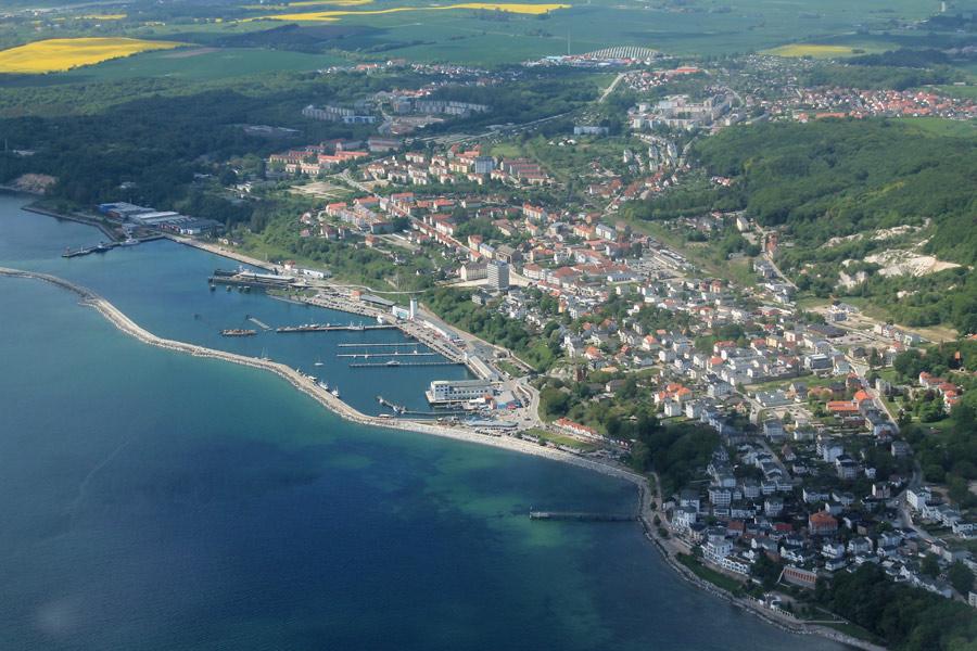 Luftbild von Sassnitz