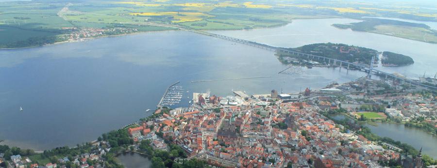 Blick auf den Strelasund