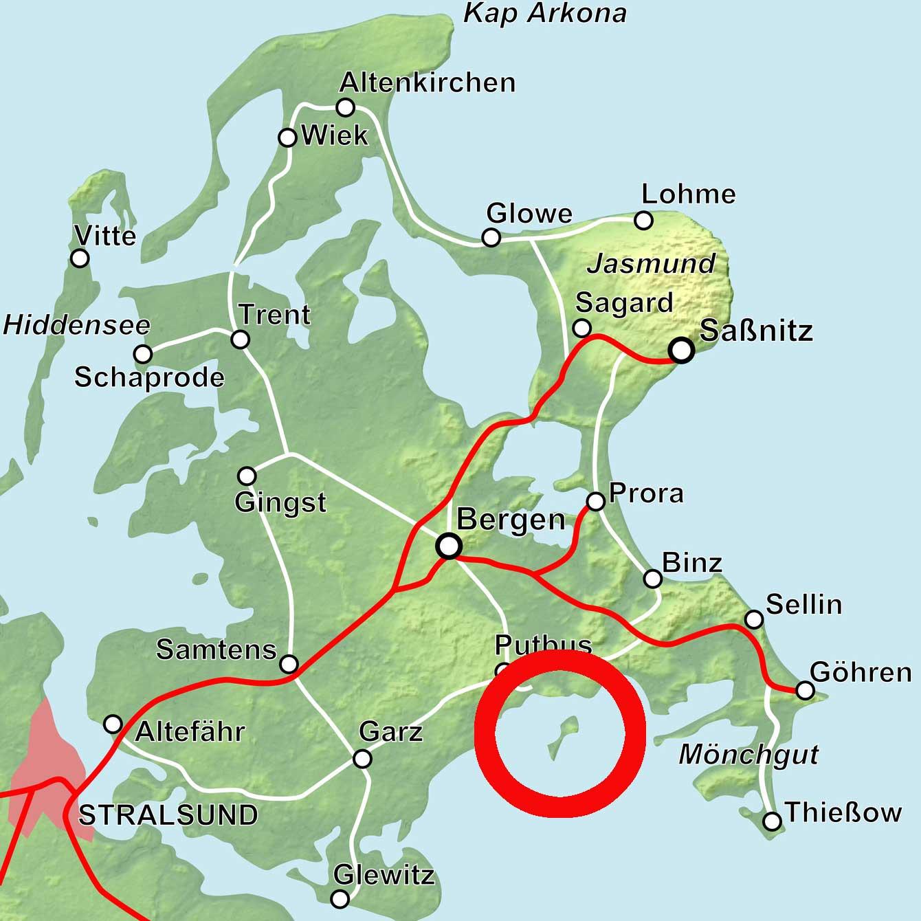 Karte Insel Vilm