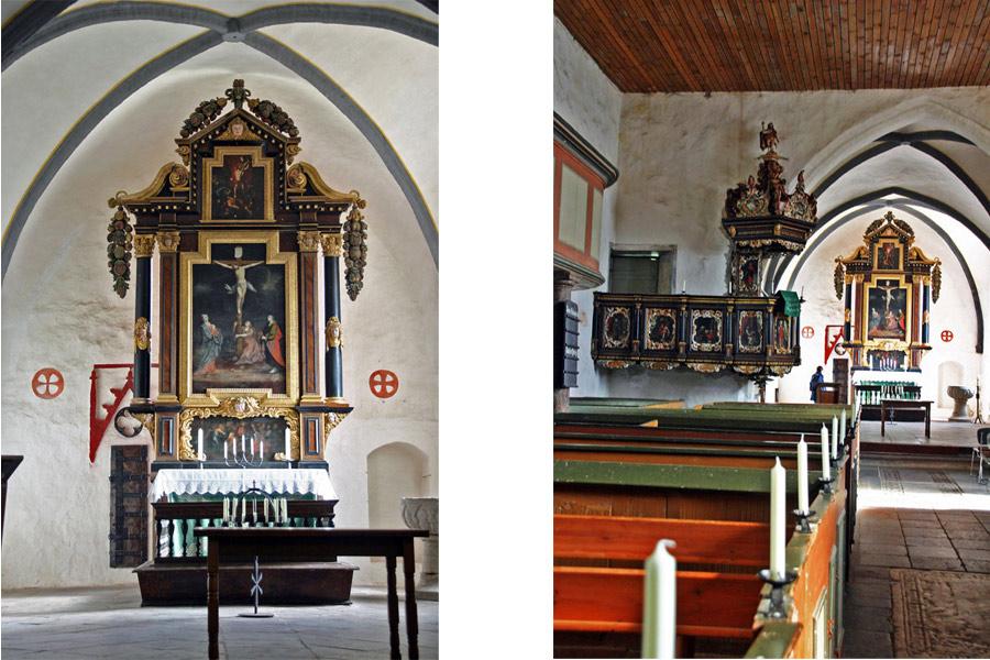 Altar der St. Pauli Kirche Bobbin im Jahr 2005