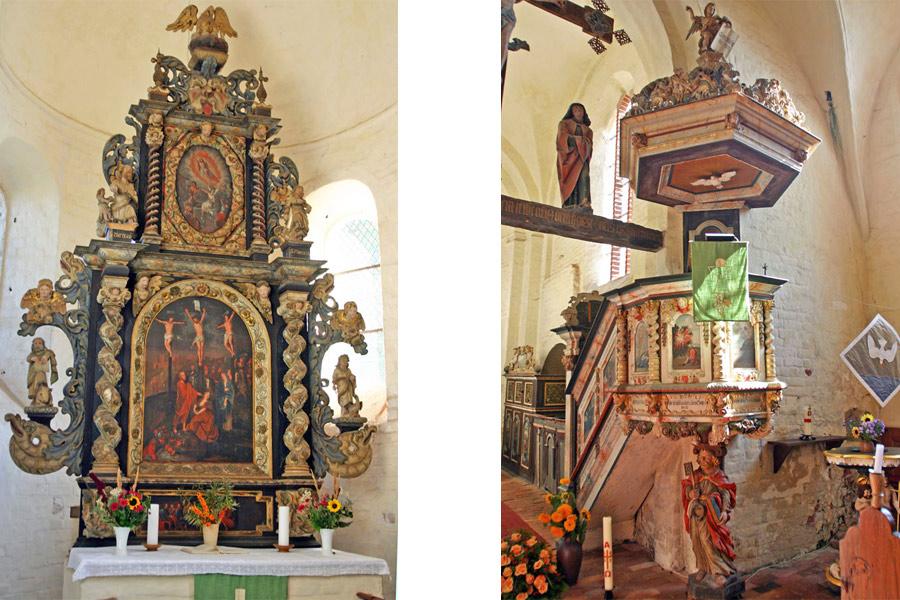 Altar und Kanzel St. Johannes Kirche Schaprode 2005