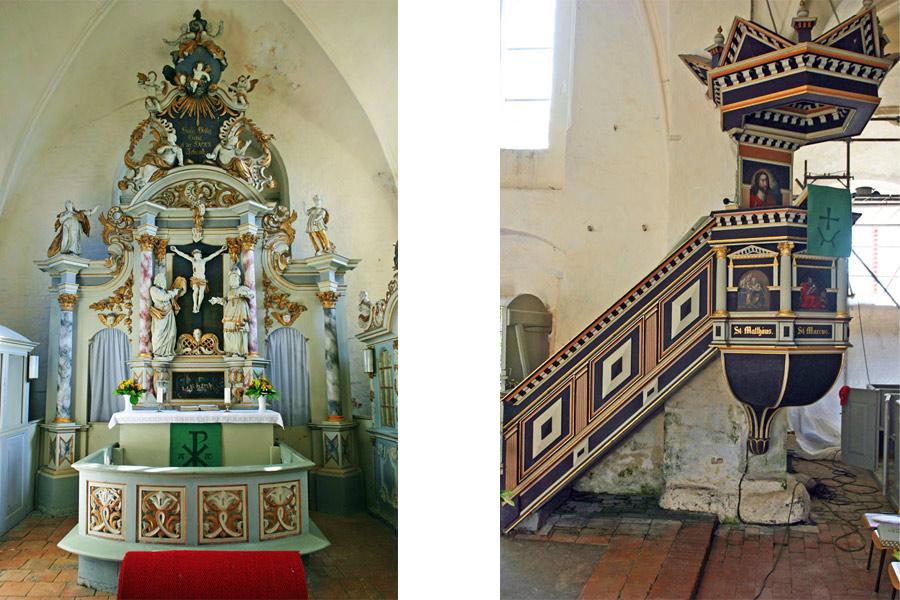 Altar und Kanzel St. Katarinenkirche Trent