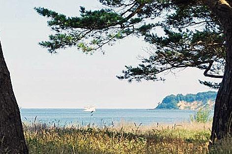 Blick von Baabe auf die Steilküste Richtung Göhren