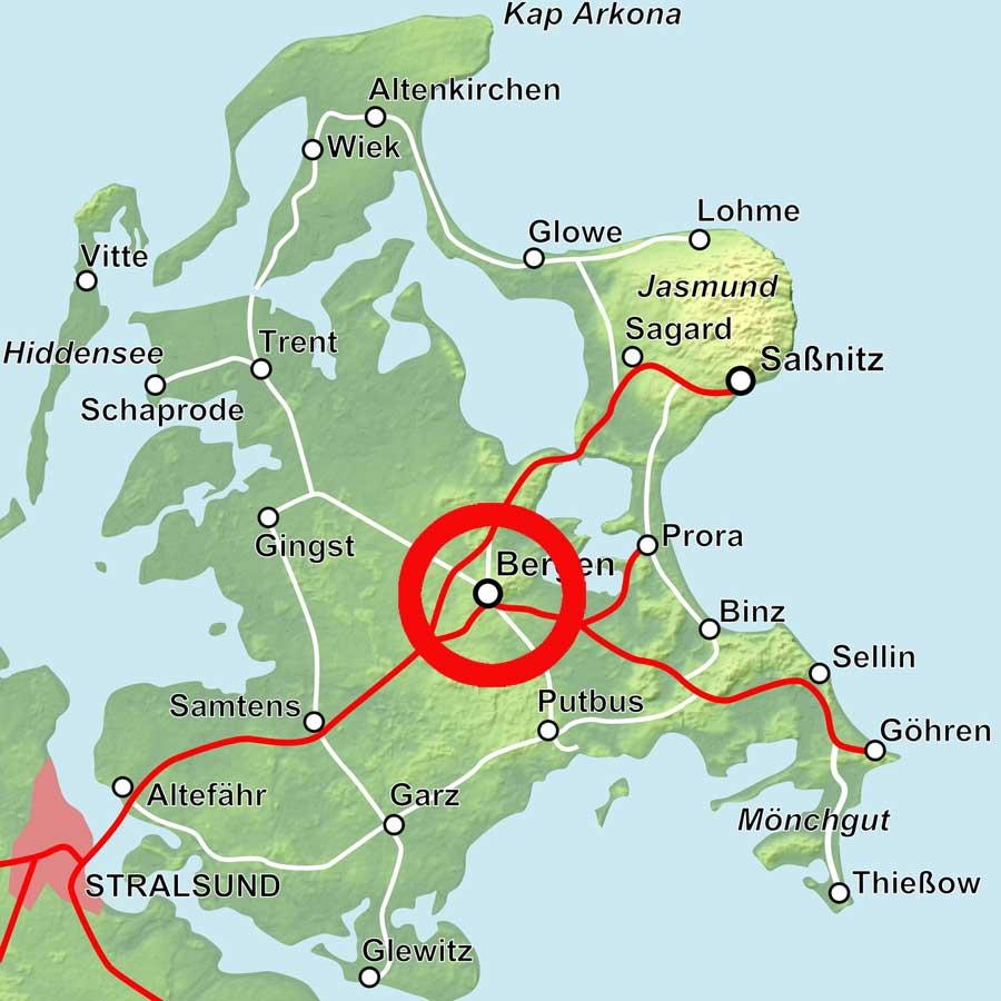Karte Bergen