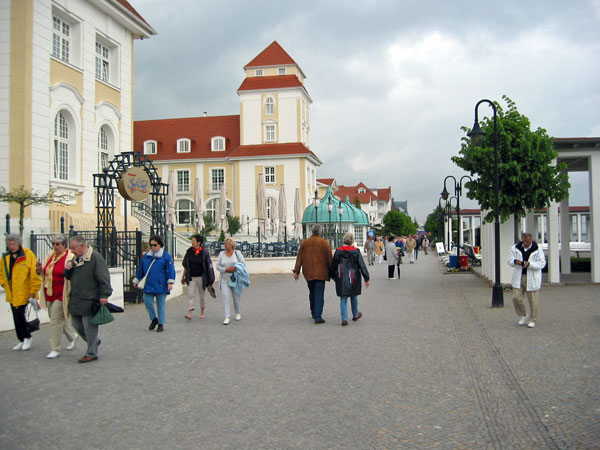 Die Promenade in Binz