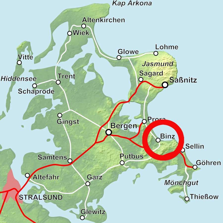 Karte Binz