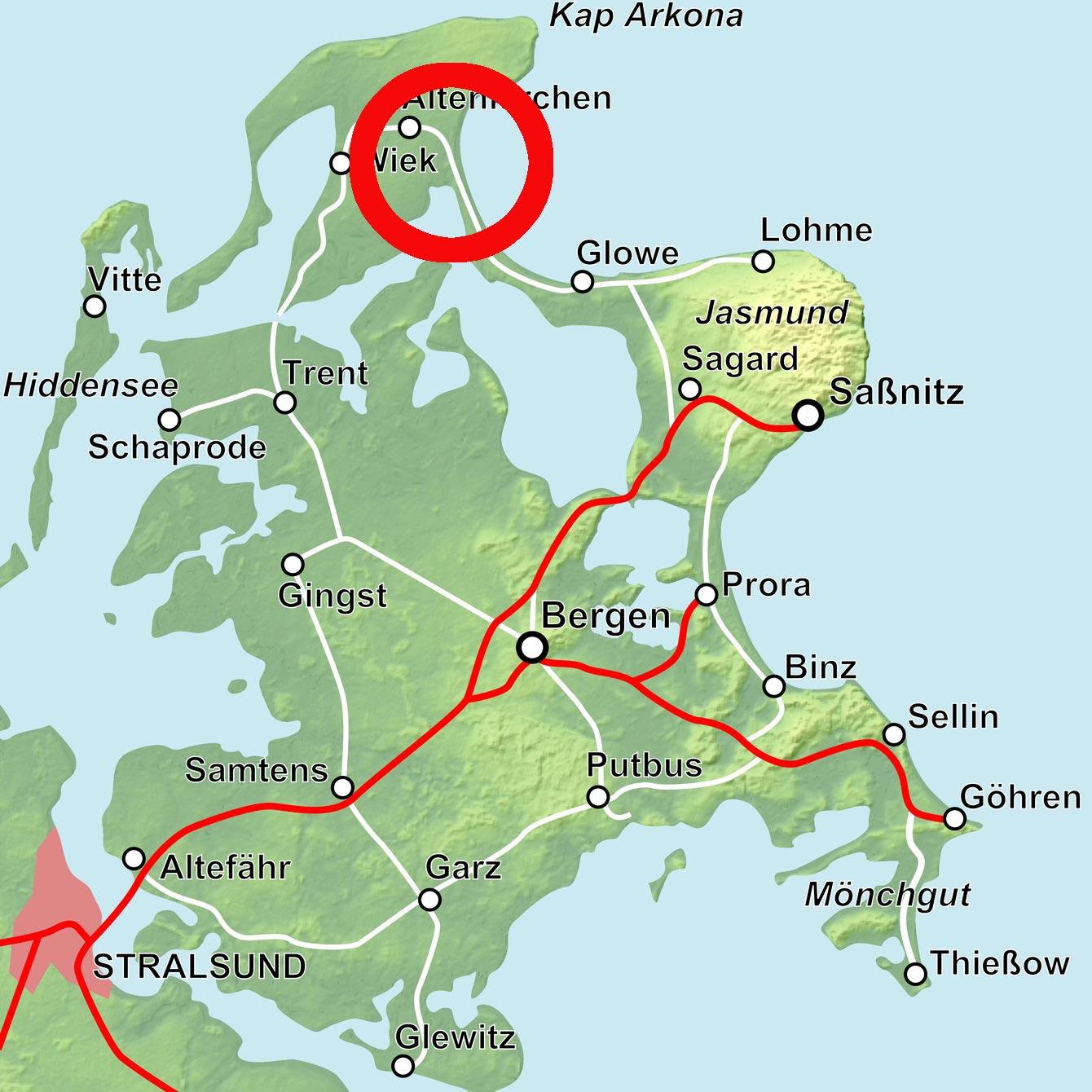 Lage Nord- und Südperd bei Göhren