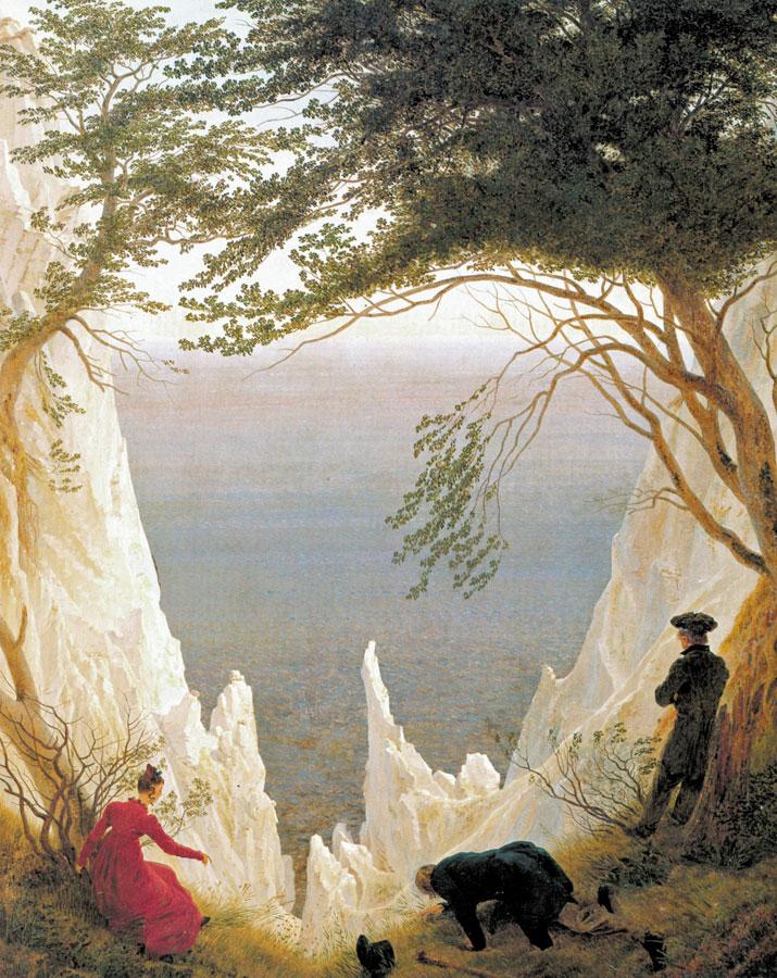 Kreidefelsen auf Rügen von Caspar David Friedrich (um 1818)