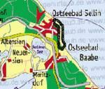 Karte Wanderung Sellin-Baabe
