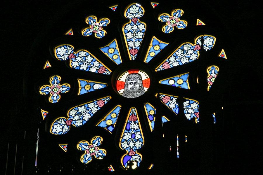 Fenster der St. Johannis Kirche Sassnitz im Jahr 2005