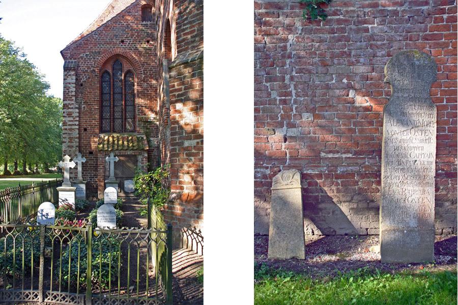 Friedhof und Grabsteine St. Jacobi Kirche Gingst im Jahr 2005