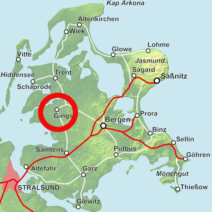 Karte Gingst