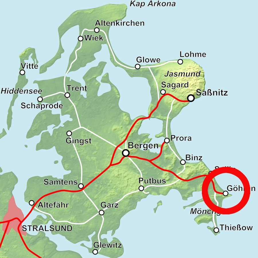 Karte Göhren