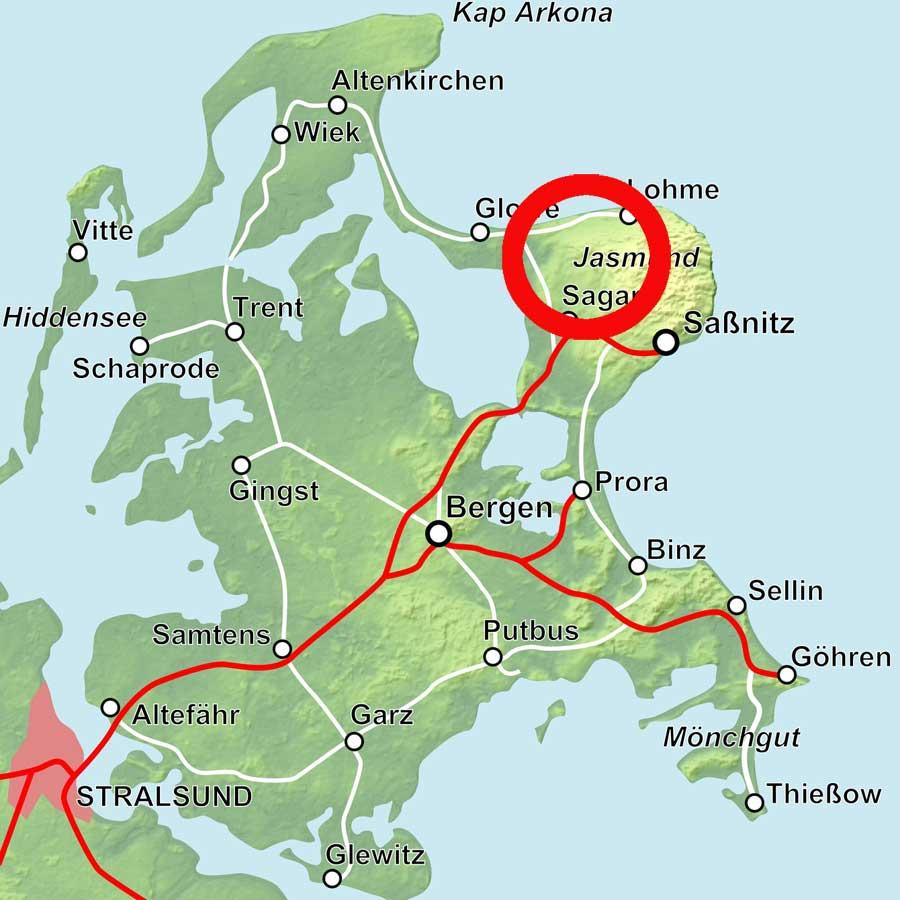 Karte Jasmund