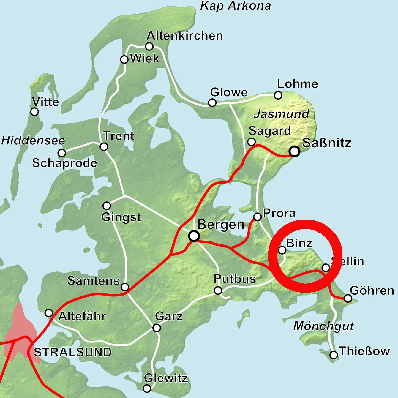 Lage Herthasee