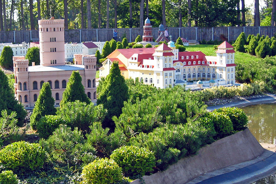 Jagdschloss Granitz und das Kurhaus in Binz