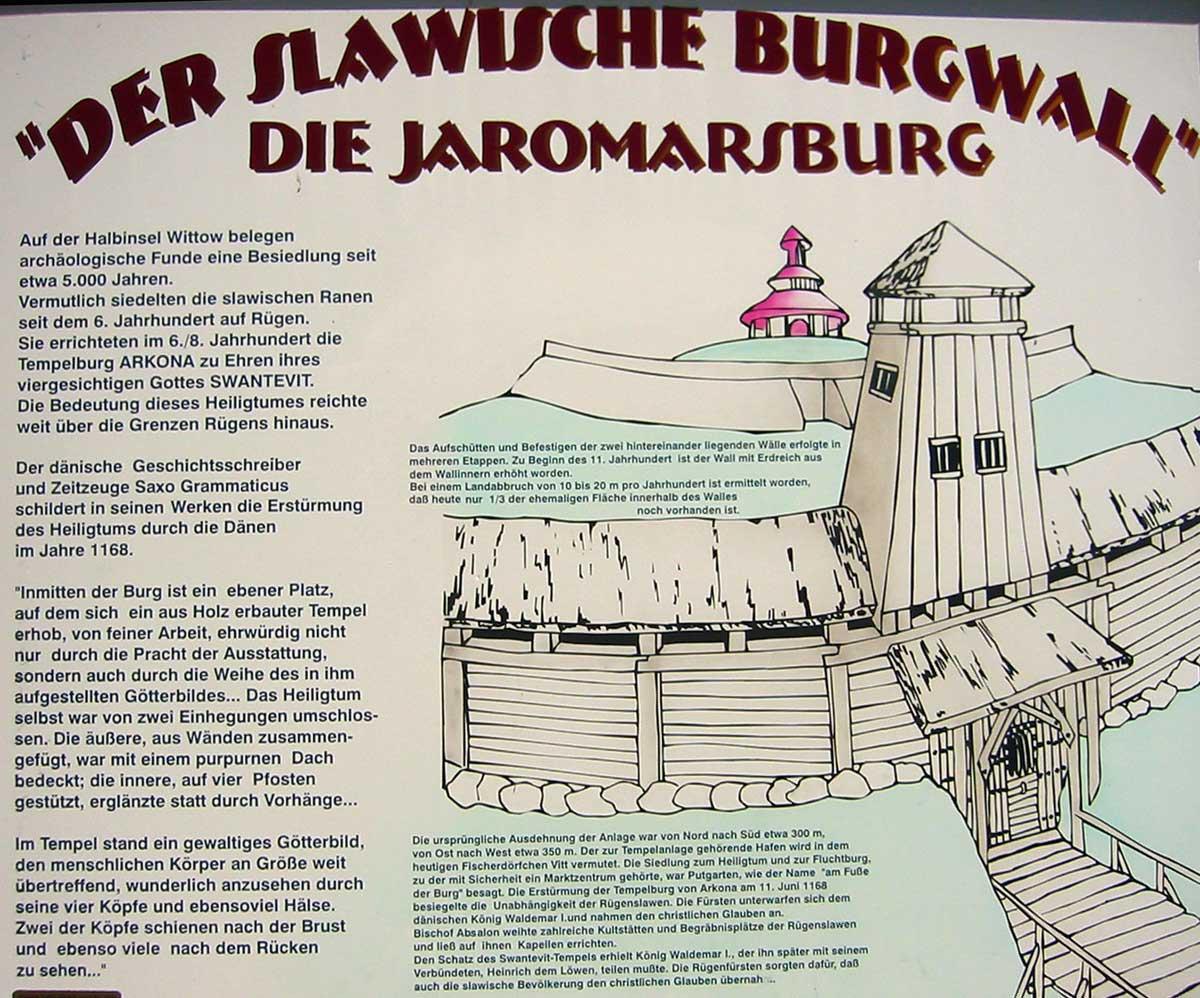 """Infotafel """"der Slawische Burgwall"""" - Bild Wikipedia"""