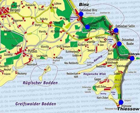 Karte Mönchgut Granitz