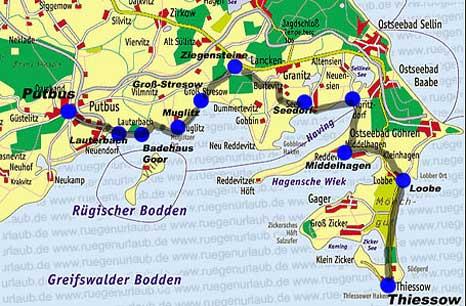 Karte Mönchgut