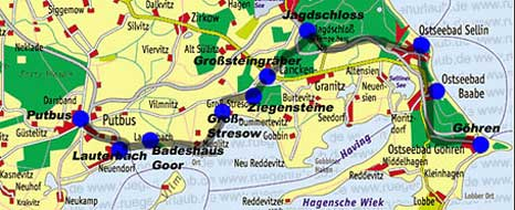 Karte Rügen Süd-Ost