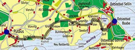 Karte Süd Rügen Mönchgut