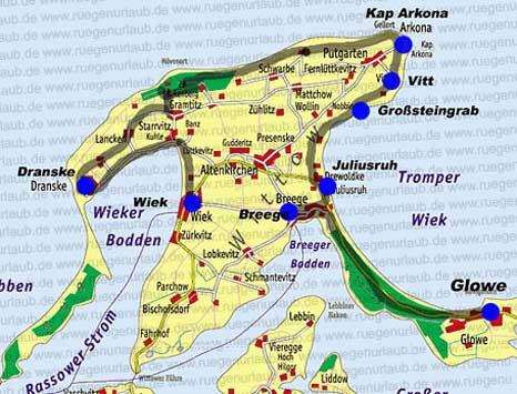 Karte Wittow
