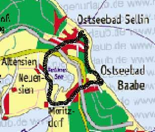 Karte Selliner See