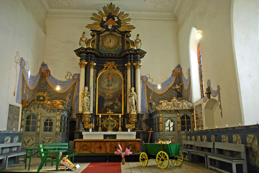 Altar St. Jacobi Kirche Gingst im Jahr 2005 im Jahr 2005